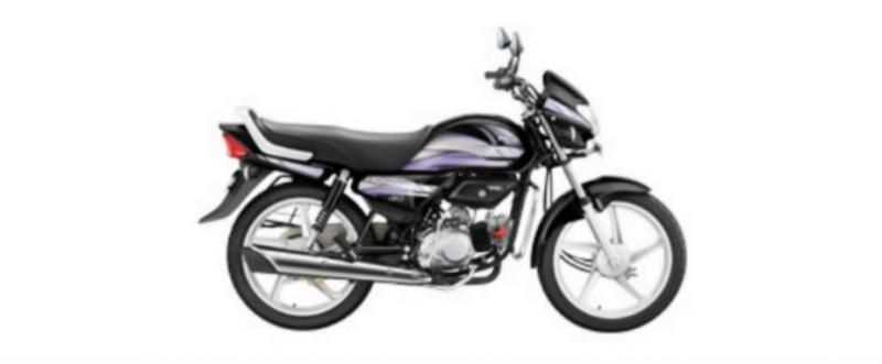 Hero HF Deluxe iBS Black self Alloy 100cc 2019