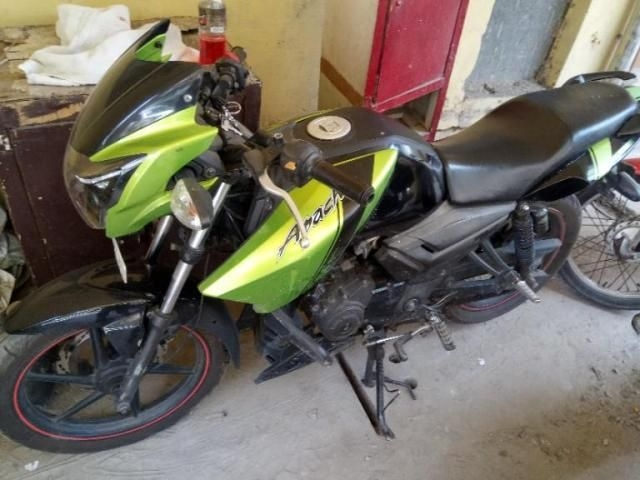 4 Used Green Color Tvs Apache Rtr Motorcycle/bike for Sale